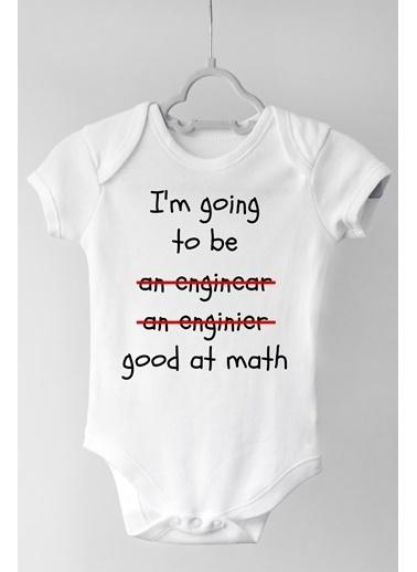 Happy Onesie Co Mühendis Olacak Çıtçıtlı Bebek Body Beyaz